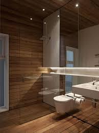 Teak Wood Bathroom Wood Tile Bathroom Shower White Bathtub Built In Storage Shelves