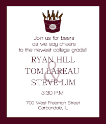 college invitations sle invitations for college graduation party best of chic