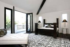 Black And White Modern Rug by Black And White Stripes Fur Rug Black And White Bedroom Decorating