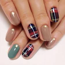 tartan nail nails nailart asian artists nails pinterest