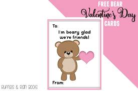 valentines kids woodland animals free s day cards for kids