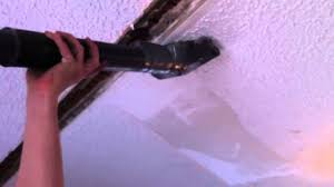 easy way remove textured popcorn ceiling without mess