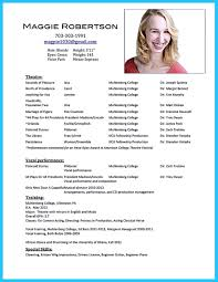 Theatrical Resume Sample by Acting Resume No Experience Template Httptopresumeinfoacting