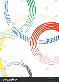 olympic rings color images Abstract color circles design vector olympic stock vector royalty jpg