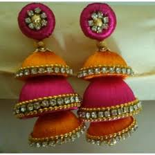 earrings online buy earrings silk thread earring online for 350 rs fleaffair