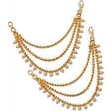 earring chain necklace images Buy pourni ear chain kaanchain brass clip on earring online jpg