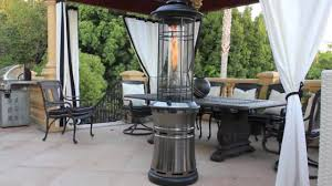 patio heater propane lava heat ember gun metal collapsible patio heater video gallery