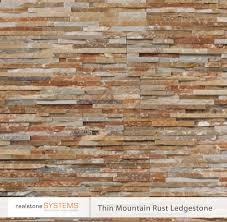 Interior Stone Veneer Home Depot by Thin Mountain Rust Ledgestone Thinstone Veneers From Realstone