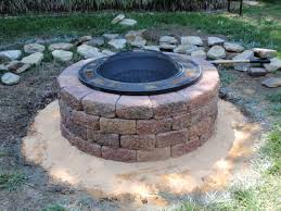 Fire Pit Glass Stones by Charming Simple Fire Pit Featuring Green Grass And Gray Brown