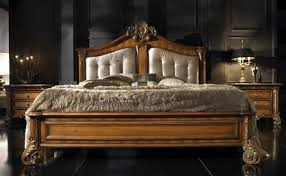 Luxury Wooden Beds Bedroom Charming Image Of Bedroom Furnishing Design And