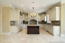 White Kitchen Cabinets With Tile Floor Pictures Of Kitchens Traditional Two Tone Kitchen Cabinets
