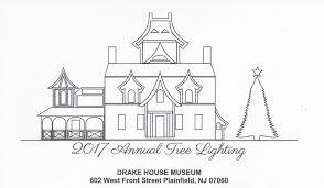 holiday craft event tree lighting at plainfield u0027s drake house