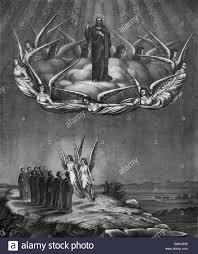vintage lithograph print circa 1873 depicting the ascension of