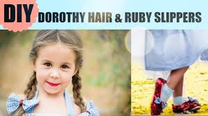 dorothy wizard of oz halloween costumes diy dorothy ruby slippers and hair wizard of oz costume youtube
