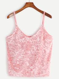 pink velvet cami top blusas q me gustan pinterest pink