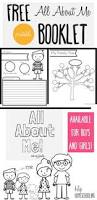 all about me free printable pack all about me about me and