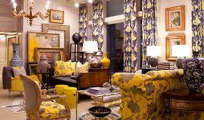 interior sweet home decorating idea for living room with yellow