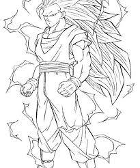 goku super saiyan coloring pages goku coloring pages funycoloring