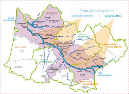 Carcassonne France Map by South West Waterway Network English Site Vnf