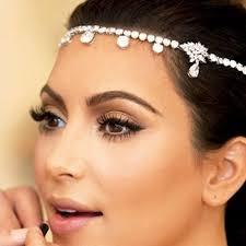 forehead headband sparkly women forehead headband chain headpiece