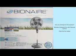 Pedestal Fan Remote Bionaire Pedestal Fan With Remote Control Youtube