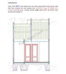 tutorial autocad gambar kerja rumah tinggal u2013 bagian 5 potongan