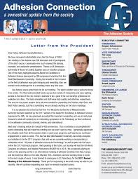 adhesion society newsletter 2016 edition by the adhesive u0026 sealant