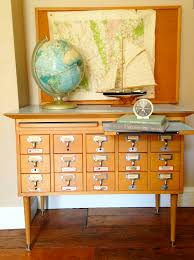 Library Catalog Cabinet Recycling Vintage File Cabinets Kids U0027 Rooms Kidspace Interiors