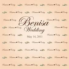 wedding backdrop personalized personalized premium canvas backdrop party supplies rentals