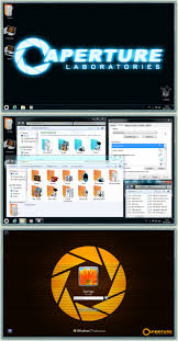 theme bureau windows aperture science theme components by springsts on deviantart