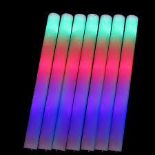 stick up led lights 20 pcs lot led foam stick colorful flashing batons 48cm red green