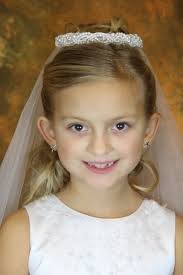 1st communion veils communion veil with pearl wreath bun wrap