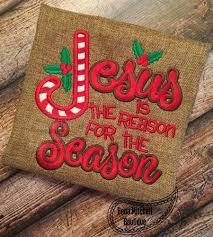 free jesus is the reason for the season applique 4 sizes
