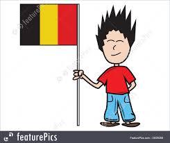 Holding The Flag Illustration Of Belgian Flag