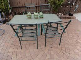 modern glass top patio table and chairs with 8