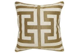Eastern Accents Trimming Accent Pillow Estate Bronze 22x22 Living Spaces