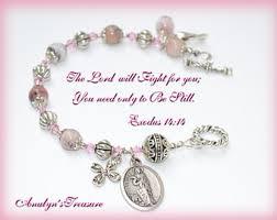 bracelet rosary rosary bracelet etsy