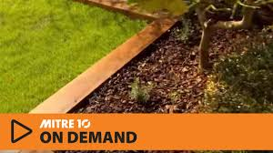 how to create wooden garden borders mitre 10 easy as youtube