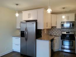 Kitchen Cabinets Stainless Steel Pendant Lights Back Splash Malibu White Shacker Style Kitchen