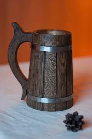 Wooden Groomsmen Gifts Wooden Beer Mug 0 7 L 23oz Natural Wood Handmade Groomsmen