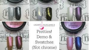 elegance light elegance pretties demo u0026 swatches not chrome youtube