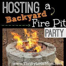 Backyard Campfire Tips For Hosting A Backyard Fire Pit Party Thrifty Little Mom