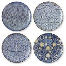 hanukkah tableware hanukkah blue mosaic salad plates mixed set of 4 williams sonoma