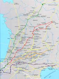 Pyrenees Mountains Map Camino De Santiago French Routes Converging At St Jean Pied De