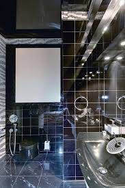 shiny black bathroom tiles ideas and pictures