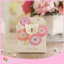 personalized wedding favor boxes aliexpress buy new 50pcs butterfly personalized wedding