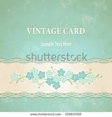 vintage lacy ornamental background forgetmenot flowers stock