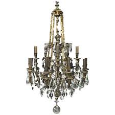 Crystal And Bronze Chandelier Baccarat Chandeliers And Pendants 51 For Sale At 1stdibs