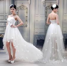 purple short heart shaped customized wedding dresses with ribbon
