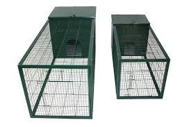 pet shop direct metal rabbit hutch 5 foot dark green
